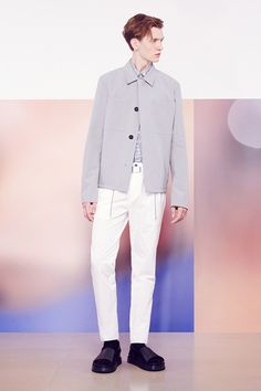 Big Pockets on coat  Jil Sander | Spring 2015 Menswear Collection | Style.com