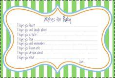 cutiebabes.com baby shower advice cards (15) #babyshower