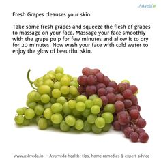 Fresh Grapes cleanses your skin - CureJoy
