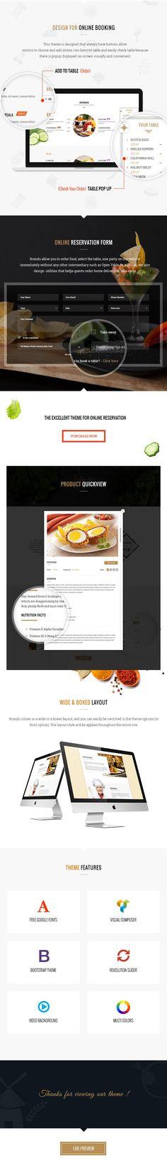 Brando - Restaurant Cafe Food Responsive WordPress Theme \ Food - free reservation forms