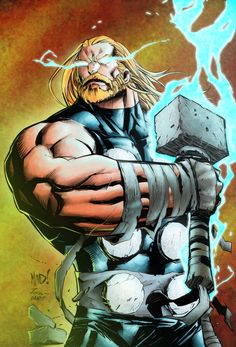 Thor by Joe Madureira (I know, I haven't posted Thor anything in forever. Edit: Just post something and suddenly Thor unlocks the root of my problem. Thanks, Big Fellah. Love you to pieces! <3)