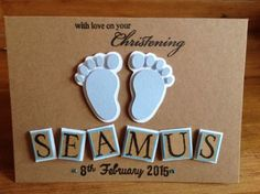 Handmade-personalised-christening-card-boy-personalised-with-name-and-date                                                                                                                                                     More