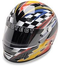 Pro Airflow SA2010 Series Full Face Flame Graphic Motorcycle Helmet #PyrotectHelmets