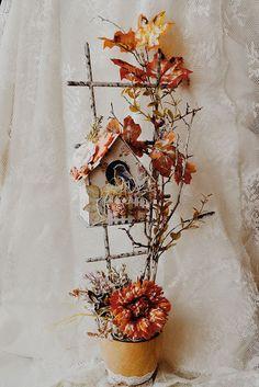 Рукодельные шедевры: Осенний скворечник.