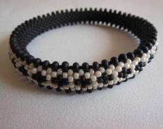 Bead Crochet Bangle: Double Reverse Spiral by LilBangleShoppe