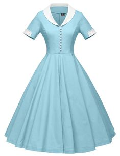 Vintage Dresses - Looking for GownTown GownTown Womens Cape Collar Vintage Swing Stretchy Dresses ? Check out our picks for the GownTown GownTown Womens Cape Collar Vintage Swing Stretchy Dresses from the popular stores - all in one. Vintage Dresses, Vintage Outfits, Vintage Fashion, 1950s Dresses, Maxi Dresses, Blue Dresses, 1950s Fashion Dresses, Party Dresses, Retro Fashion