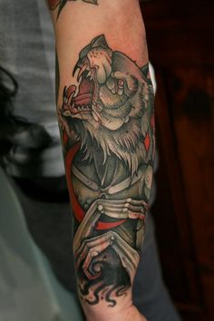 Tattoo by Mitch Allenden wolf tattoo