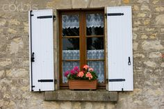 Typical French Window in Normandy