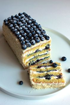 Lemon Layer Cake with Blueberry Filling