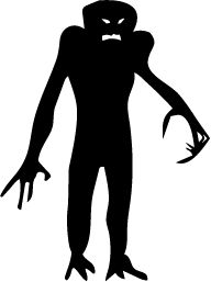 scary silhouette monster - Google Search