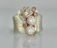 Diamond Jewelry We'll customize our signature designs to suit your heirloom diamonds. This white and pink diamond ring was set with recycled heirloom diamonds. Jewelry Rings, Jewelery, Fine Jewelry, Silver Jewelry, Silver Rings, Pearl Jewelry, Jewelry Sets, 80s Jewelry, Jewelry Case