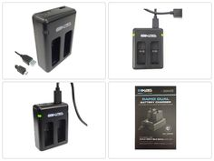 NEW Bower Dual Battery Charger for GoPro (2-Pack) Batteries - Black XAS ORIGINAL #Bower