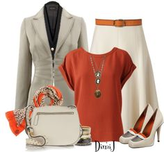 """Office Look"" by dimij on Polyvore I like the skirt and shirt"