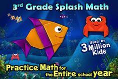 Splash Math - 3rd grade worksheets for Addition, Subtraction, Multiplication, Division, Fractions & 11 other chapters [HD Lite] (via AppCrawlr)