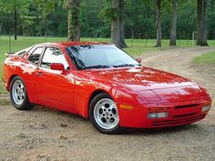 The Porsche 944 Turbo. Built from the Porsche 924, this is a very similar car but better in every way. This has wider fenders, bigger engine (the 924 was gutless) and has a high end turbo version. I remember as a teenager there was one for sale and I wanted it so badly! Even though the engine was blown. A stunning car out of the 80's