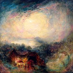 The Evening of the Deluge (Joseph Mallord William Turner - )