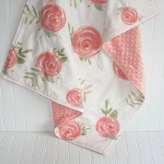 baby girl quilt baby quilt floral baby quilt floral baby