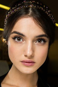 Sparkly hair-bands #backstage at Dolce And Gabbana AW/15 #MFW