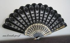 I found 'Carnival lace hand fan in BLACK, Goth style accesory, halloween gadget, steampunk, gothic' on Wish, check it out!