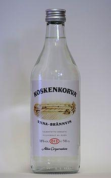 Koskenkorva, most popular vodka in Finland. Named after a village in Southern Bothnia, where it is made. Lets Get Drunk, Getting Drunk, Booze Traveler, Fisherman's Friends, Finnish Language, Hooch, Bar Drinks, Korn, Finland