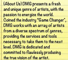The vision of Diversity Music Group LLC