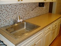 Desert Sand With White Cabinets