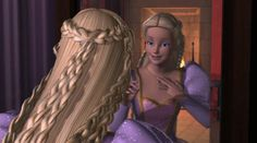 Screencap Gallery for Barbie as Rapunzel DVD, Barbie, Barbie). Barbie is an artist who paints her way out of a castle to save her prince. Barbie Rapunzel, Rapunzel Movie, Rapunzel Dress, Barbie I, Tangled Rapunzel, Barbie Style, Barbie Movies, Poster Design, Fairy Princesses