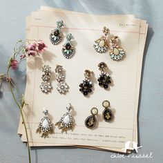For The Chloe: Discover the colorful stone + crystal statement earrings of Spring on my Chloe + Isabel boutique!