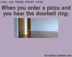 "Im probably the Cat at the front Me: ""O SHIET THE PIZZA IS HEREEE :D *Crashes into walls* XD"