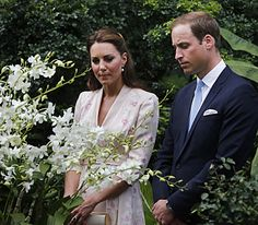 Viewing the Orchid Named After Princess Diana...What A Touching Moment...