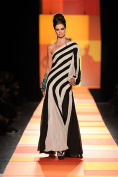 Jean Paul Gaultier – Fashion Houses, 2013 black and white dress and stripes