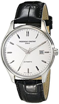 Men's Wrist Watches - Frederique Constant Mens FC303S5B6 Index Analog Display Swiss Automatic Black Watch * Want to know more, click on the image. (This is an Amazon affiliate link)