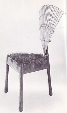 "New Hampshire ""Rake Back Lawn Chair"" Lee A. Funny Furniture, Unusual Furniture, Recycled Furniture, Art Furniture, Furniture Design, Cheap Chairs, Cool Chairs, Scandinavian Dining Chairs, Love Chair"