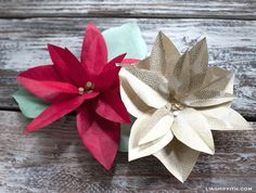 Christmas Decorating with a Paper Poinsettia