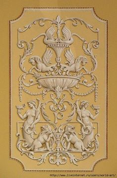 Wall Painting Decor, Stencil Painting, Interior Painting, Arabesque, Victorian Curtains, Ornament Drawing, One Stroke Painting, Aesthetic Painting, Rococo Style