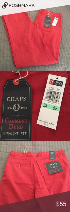 SALE Chaps red straight leg pants BNWT, never been worn. They are straight leg and size W34 L32. Chaps Pants
