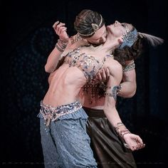 "Polina Semionova and Igor Zelensky, ""Scheherazade"", Mariinsky Ballet - Photographer Nikolay Krusser"