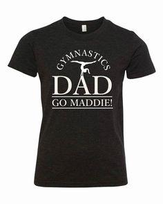 aec8afebe44 Custom Gymnastics Dad T-Shirt by MadelineLewisDesigns on Etsy Gymnastics  Shirts, Dad To Be