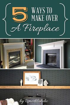 Update that old fireplace! 5 ways you can makeover your mantel and hearth for a new look and style. #spon