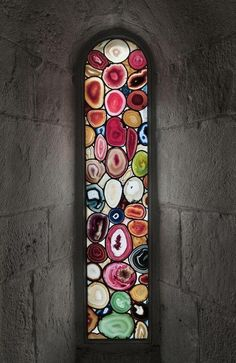 'Glass' window made with agates Want this in my house....sooo beautiful!!!! Geology Wonders