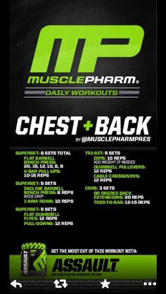 Chest and back Monday's Chest Workouts, Fit Board Workouts, Gym Workouts, Quick Workouts, Training Workouts, Circuit Training, Muscle Training, Weight Training, Musclepharm Workouts