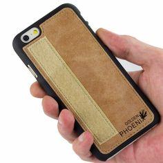 Golden Phoenix iPhone 6 Plus Tasche Royal Wildleder hellbraun Backcover