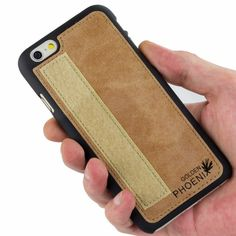 Golden Phoenix iPhone 6 Plus Tasche Royal Wildleder hellbraun Backcover