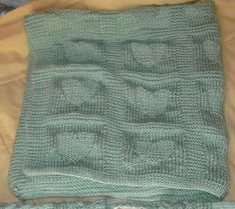 Heart Baby Blanket Knitting Pattern