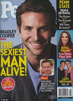 I knew I was right!!!  http://www.dailymail.co.uk/tvshowbiz/article-2062350/Bradley-Cooper-named-Peoples-Sexiest-Man-Alive-2011.html