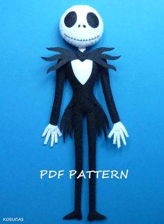 PDF pattern to make a felt Jack. di Kosucas su Etsy