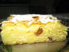 Este o specialitate din bucataria maghiara, mai precis o budinca dulce de taietei, cu branza de vaci si stafide. Delicioasa..., de va lin... Romanian Food, Cannoli, Sweet Memories, Desert Recipes, Cake Cookies, I Foods, Macaroni And Cheese, Bakery, Food And Drink