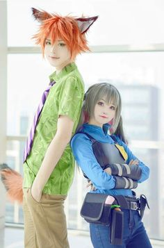 Nick and Judy cosplay