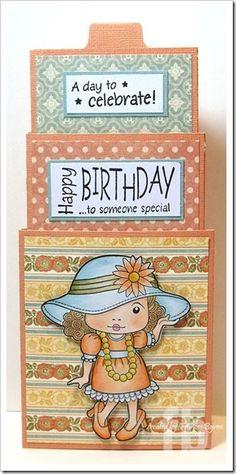 Birthday Girl! Triple Tier Slider Card created by Frances Byrne