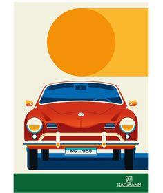 "bolundberg on Instagram: ""Another classic car in collaboration with Adam Lundberg #karmannghia #karmann #car #vintagecar #classiccars #bolundberg…"" Car Ins, Vintage Cars, Collaboration, Classic Cars, Illustrations, Instagram, Antique Cars, Vintage Classic Cars, Illustration"